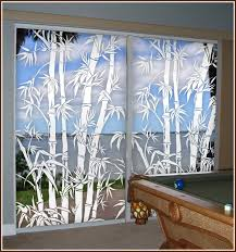 glass door tinting film tropical etched glass window film design big bamboo see thru