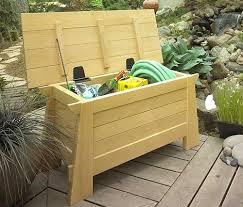 Diy Outdoor Wood Storage Bench by Best 25 Garden Bench With Storage Ideas On Pinterest Garden