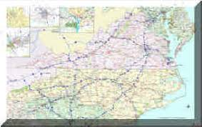 map of virginia and carolina multi state wall maps by universal maps and the map shop