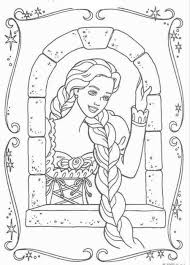 tangled coloring page online pages of disney characters and barbie