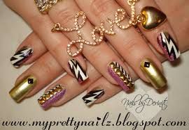 striking glitz n glam gold studded nail art tutorial with new
