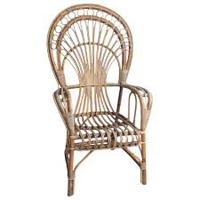 Cane Peacock Chair For Sale Iconic Rattan Peacock Chair 1970s For Sale At 1stdibs