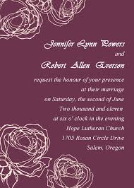 marriage invitation card sle vintage plum wedding invitation cards online ewi142