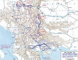 Ww1 Map Map Of Serbia And The Salonika Expedition 1915