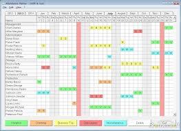 attendance planner screenshot download free attendance planner