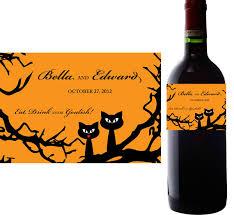 wedding wine bottle label