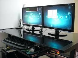 best gaming desks computer desks dual monitor computer desk plans two mount how