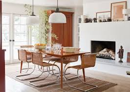 a mix of midcentury meets classic ranch style in this dining room