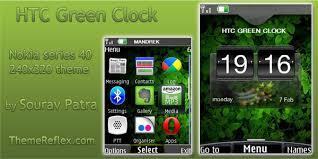 htc themes update htc green clock theme for nokia 240 320 themereflex