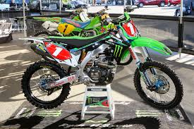 factory motocross bikes for sale kawasaki kx 450 team monster energy kawasaki ryan villopoto