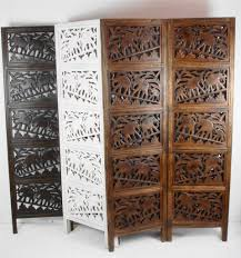 wooden room dividers 4 panel hand carved indian screen wooden elephant screen room