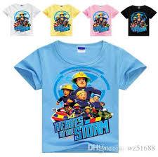 fireman sam kids clothes boys shirt girls tops children u0027s
