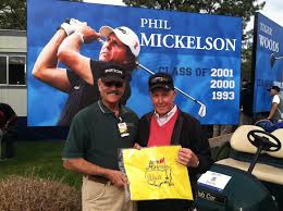Masters Flag Mickelson Signed Masters Flag Is Part Of Madrigal Golf Fun