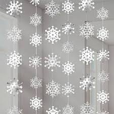 snowflake decorations snowflake christmas hanging strings decoration 2 1m χειμωνασ
