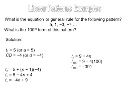 pattern is linear quadratic patterns and function notation ppt download