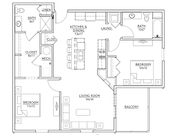 12x12 Kitchen Floor Plans by Floor Plans Copper Creek Apartments