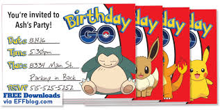 printable invitations pokémon go birthday go free printable invitations
