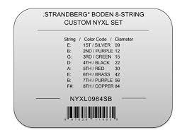 addario custom nyxl set for strandberg guitars custom light 8 string