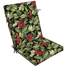 Blazing Needles Patio Cushions by Shop Garden Treasures Black Floral Tropical Standard Patio Chair