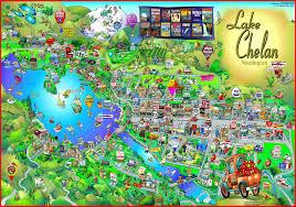 Pullman Washington Map by Lake Chelan Wa