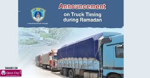 Qatar Ministry Of Interior Traffic Department Moi Announces Timings For Trucks Movement During Ramadan