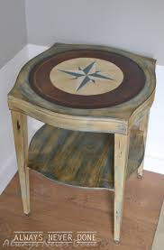 compass nautical side table always never done 2