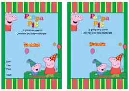 peppa pig birthday invitations marialonghi com