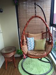 natural air gondola cradle swing hanging chair outdoor balcony