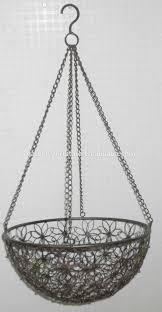 Garden Baskets Wall by Handicraft Decorative Metal Planter Fruit Bowl Wrought Iron