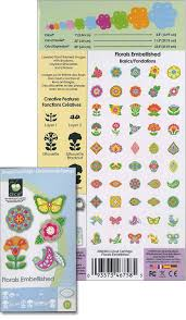 amazon com cricut 2000934 florals embellished cartridge