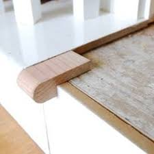 stair tread nosing is just the small overhang red arrow at the
