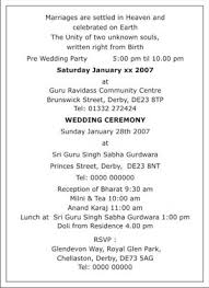 sle of wedding programs programme invitation card format all the best invitation in 2018