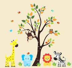 Jungle Wall Decal For Nursery Jungle Safari Wall Decals Wall Decals Wondrous Baby Room Jungle
