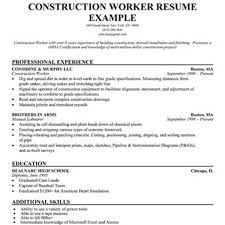 Sample Resume For A Construction Worker Sle Of Construction Resume 28 Images Free Sales Resume 47 Free