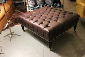 Leather Ottoman Tufted Tufted Ottoman Leather Soverd Overd Eather Od Butler Square Tufted