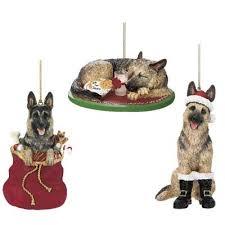 santa s best friend german shepherd ornament the