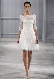 robe de mari e original robe de mariée courte avec manches en dentelle goldy mariage