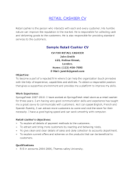 Bartender Resume Skills Sample Resume For Cashier Examples Resume For Your Job Application