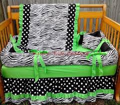 Black And Green Bedding Black And White Polka Dot And Zebra Crib Bedding Set Ready To Ship