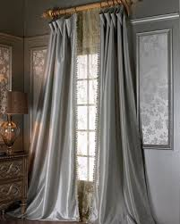 Silver And Blue Curtains Curtain Sheer Curtain All Curtains U0026 Hardware At Neiman Marcus