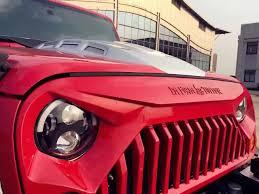 jeep grill art matte black angry bird gladiator grille for jeep wrangler jk 07 17