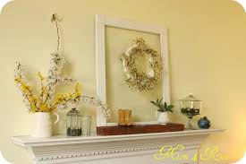 Spring Home Decor Spring Mantel Decor