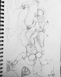 rough sketch of lord manikanta u2013 arun arts