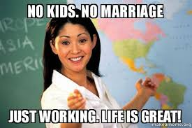 No Kids Meme - no kids no marriage just working life is great no