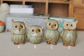 owl ceramic ornaments retro animal home furnishings decoration at