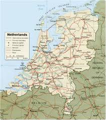 netherlands map map netherlands travel europe