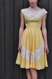 Sunshine Yellow 50 U0027s 60 U0027s Cocktail Dress Vintage 1950 U0027s Taffeta