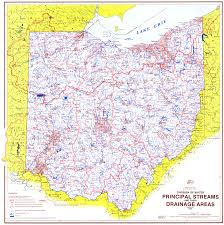 Ohio Canal Map by Ohio Watershed U0026 Drainage Basin Maps