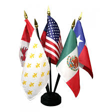 Texas Flag Image 4 In X 6 In Miniature 6 Flags Of Texas Set Desk Sets U0026 Bases