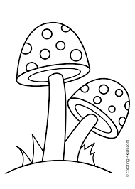 two mushrooms coloring page for kids printable free coloring